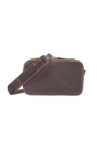bruine leren tas my boxy bag camera  13660001