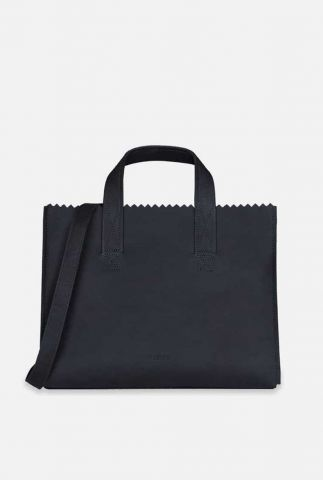 my paper bag zwart leren handtas cross-body 10671081