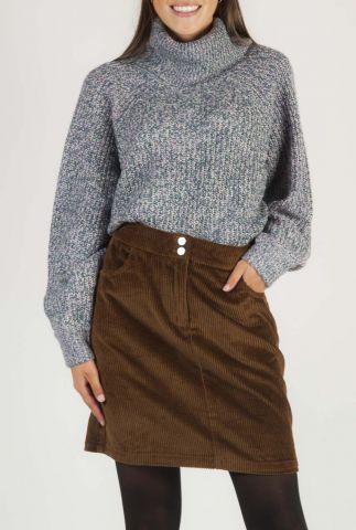paarse gemêleerde trui met turtleneck Nadila