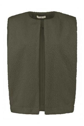 donker groene teddy bodywarmer nana jacket w21.161.3456