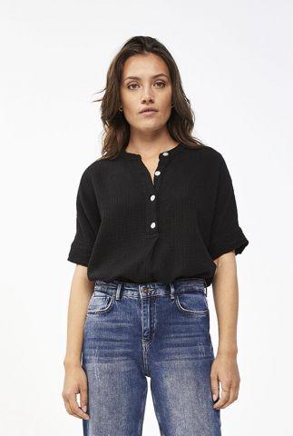 licht bruine top met wafelstructuur nanci blouse