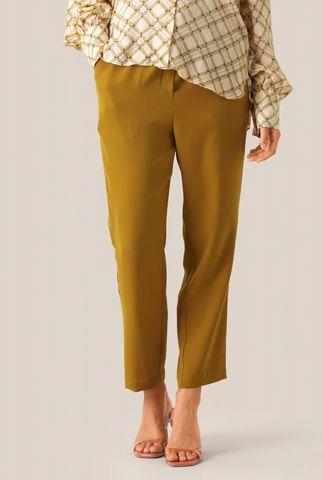 soepel vallende bruine broek met elastische band naomi mw trousers