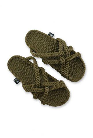 gevlochten slip-in sandalen met gekruiste bandjes slip on