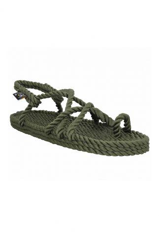 gevlochten sandalen met dunne bandjes en teenlus toe joe