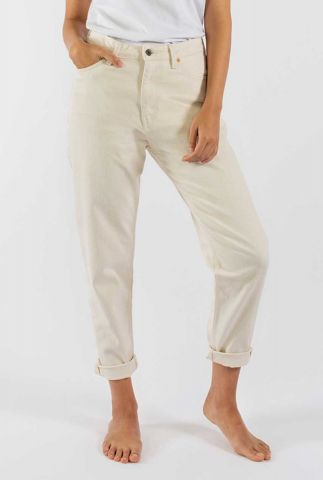 vegan crèmekleurige mom jeans nora loose tapered undyed 55-01
