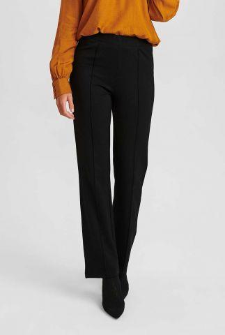 zwarte broek met elastische taille nubitja legging 700946