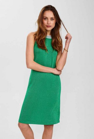 groene halterjurk met lurex glitter nuchela dress 700556