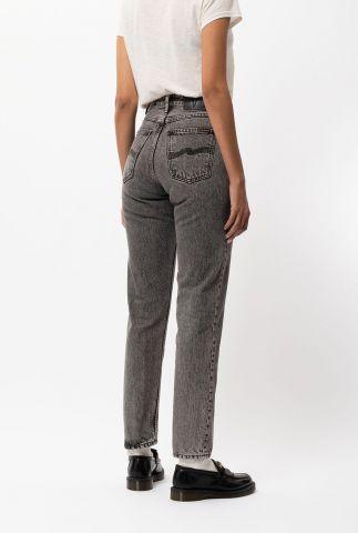 grijze high waist tapered jeans breezy britt desert nights 113597