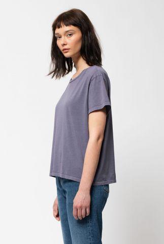 lila t-shirt van biologisch katoen lisa tee lilac 131696
