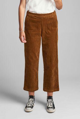 brons kleurige broek met rib dessin numeghano pant cr 7520615