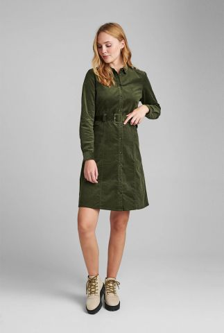 donker groene jurk met ceintuur numaurya dress 7520827