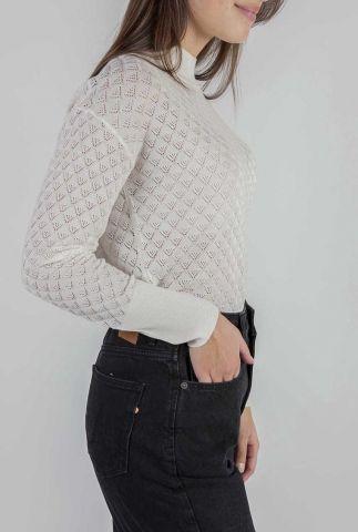 fijngebreide trui met ajour details nubecky mietta 7520217