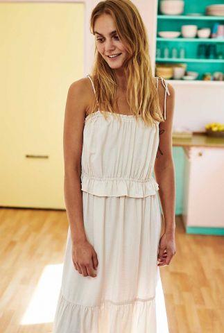 zand kleurige jurk met spaghettibandjes nucarezza 700495
