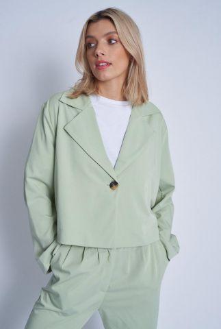 korte groene blazer met boxy fit neroli blazer nwjk73c