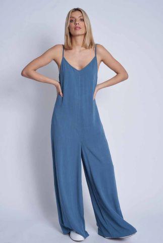 blauw jumpsuit met lage rug laurel jumpsuit nwju130c