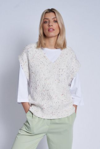 multicolored gebreide spencer tansy knitted nwto4c