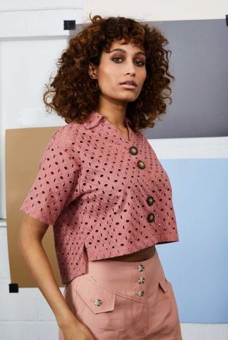 oud roze broderie blouse brianna nywbl229