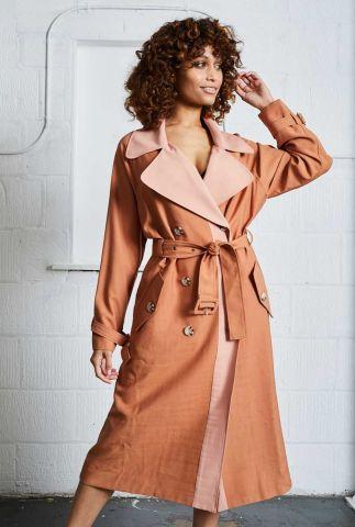 pastel kleurige trenchcoat phelps jacket nywjk223