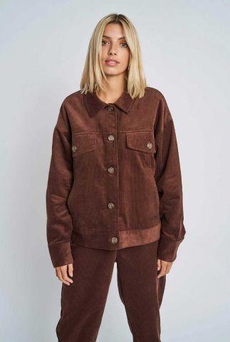 donker bruin jack met rib dessin addilyn jacket nywjk252