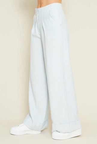 licht blauwe high waist broek valentina pants nywtr196