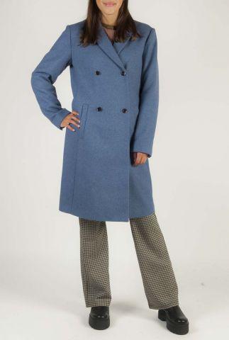 halflange wollen jas double breasted odelia coat