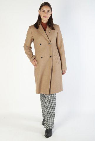 double-breasted mantel jas van een wolmix odelia coat