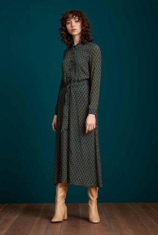 zwarte maxi jurk met bloemenprint olive dress muffin 06743