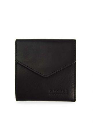 zwarte portemonnee eco leer georgie's wallet omb- e047cs