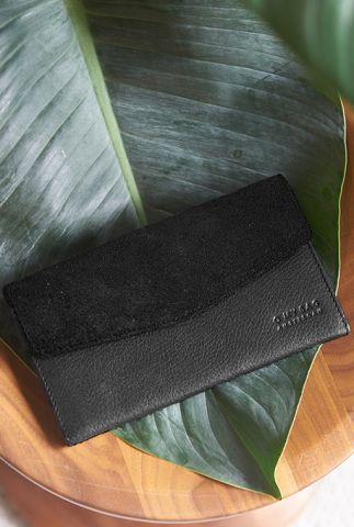 leren portemonnee ella purse eco midnight black omb-e083n