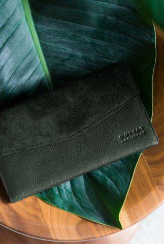 leren portemonnee ella purse eco forest green ombe083p
