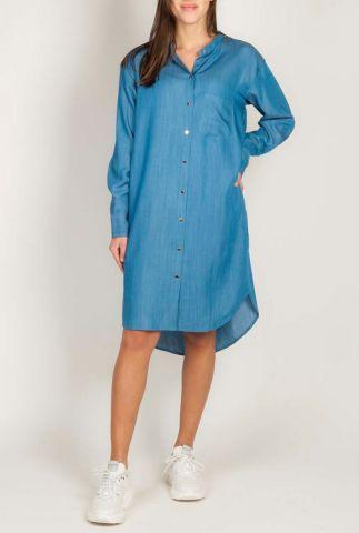 denim blouse jurk van lyocell palma shirt dress
