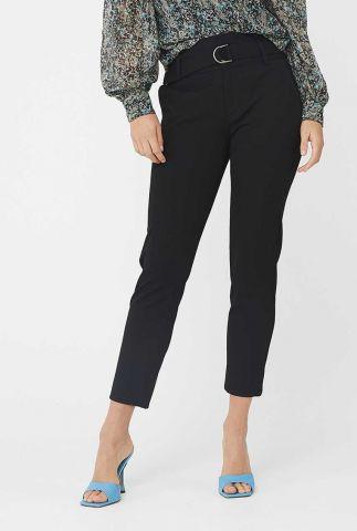 klassieke zwarte broek met high waist en ceintuur pan kikko