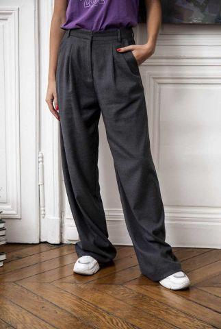 donker grijze wijde pantalon met steekzakken sliga