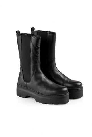 zwarte hoge chelsea laarzen met chunky zool aya