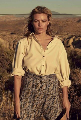 crème kleurige blouse met knoopsluiting peggie s21.102.1263