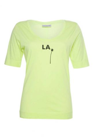 neon geel t-shirt met opdruk s20f699