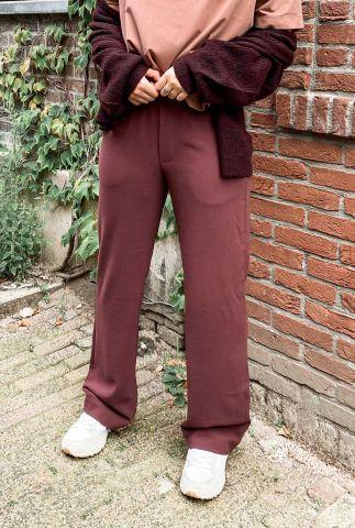 bordeaux rode broek met elastische tailleband Phillipa