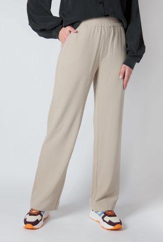 beige broek met elastische tailleband Phillipa