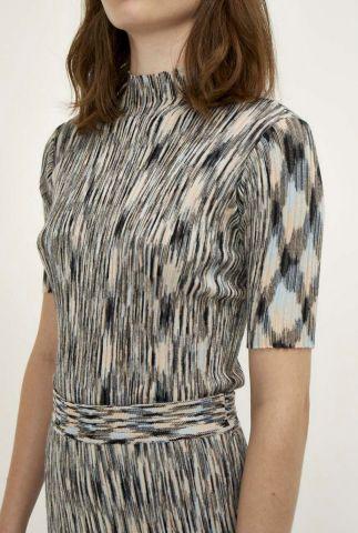 fijn gebreide multicolor top pira blouse