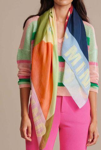 gekleurde sjaal met grafische vlakken colourful state of mind sp6451