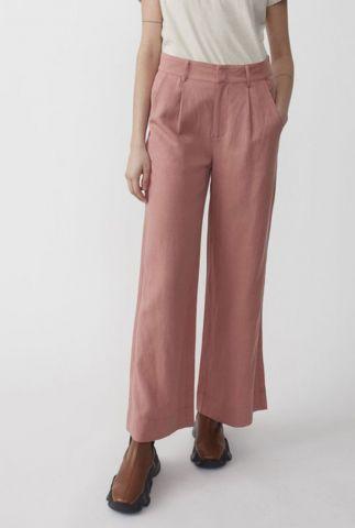 roze wijde broek van een duurzame materialen mix priya trousers