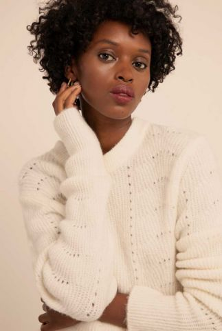 crème kleurige trui met ajour details nala