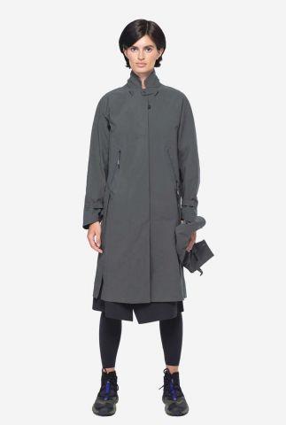 moderne trenchcoat jas met afneembare capuchon qw252