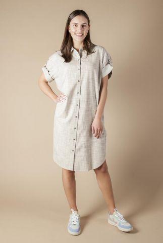 doorknoop jurk met ingeweven dessin ravenna