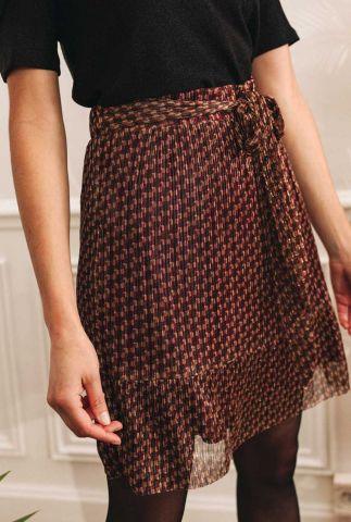 mini plissé rok met all-over print en lurex detail rayane