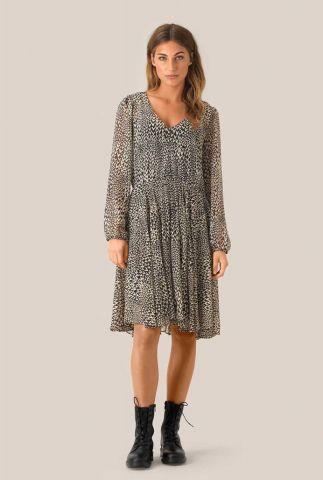 semi-transparante jurk met all-over hartjes dessin real ls short dress