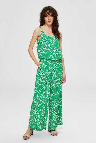 groene jumpsuit met bloemen dessin rebekka sl jumpsuit 16073530