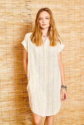 katoenen blouse jurk met gestreept dessin rikita