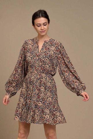 licht roze blouse met bloemen dessin rikki autumn flower blouse