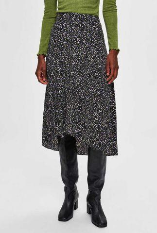 zwarte midi rok met all-over print riyanka midi skirt 16075320